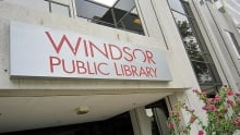 Windsor Library Sign