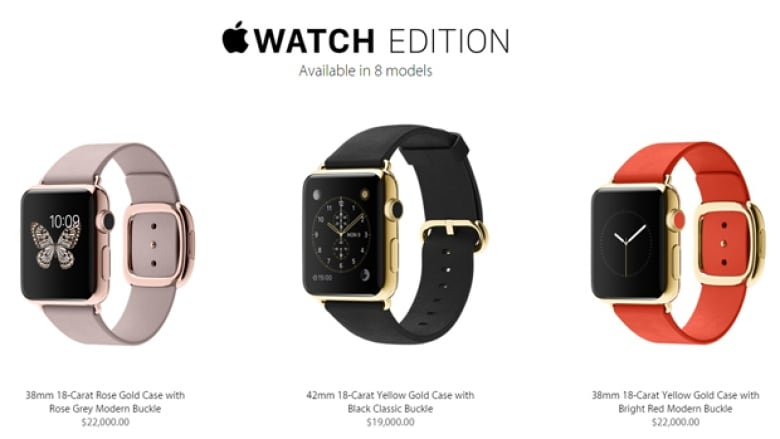 Jewellers Gold Plate The Apple Watch For A Lot Less Than 22k Cbc News