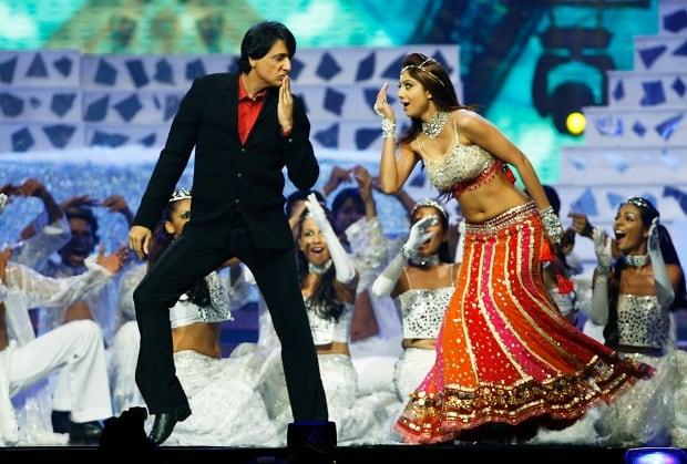 Indian choreographer Shiamak Davar and actress Shilpa Shetty