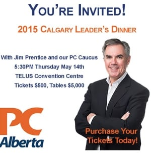 PC leader's dinner ad