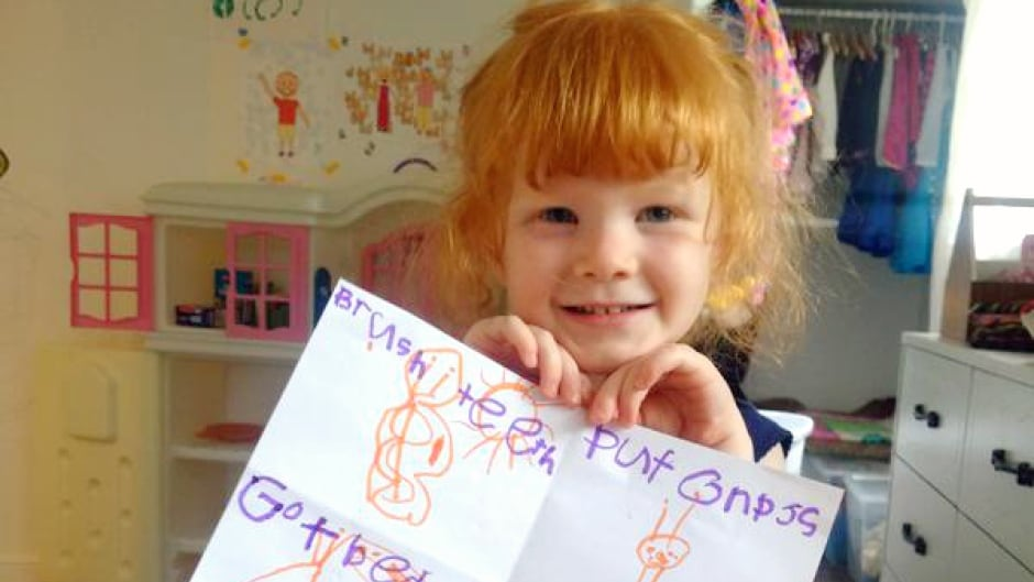 Think you can't do Lynda Barry's drawing challenge? Take it from this 4 year old: just go for it, and have fun!