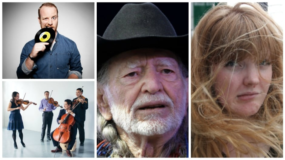Today on q: Skratch Bastid and The Afiara Quartet perform, country icon Willie Nelson reminisces, comedian Monica Heisey confesses