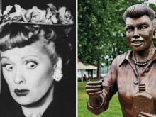 Statues of Lucille Ball and Cristiano Ronaldo have both been mocked relentlessly for their lack of likeness to their subjects.