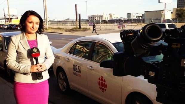CBC's Tory Gillis has been subjected to a vulgar catcall while reporting in Regina, Sask.