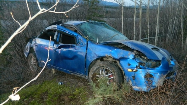 34-year-old Bradley Roberts was driving this 2004 Dodge SRT-4 when it went off the road May 12, killing him and sending his female passenger to hospital.