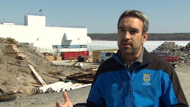 Yellowknife Mayor Mark Heyck in front of the city's water treatment plant in 2015, which went into operation while Heyck was mayor. Heyck announced Tuesday that he would not seek re-election in 2018.