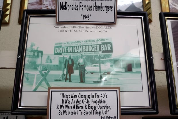 Photo of McDonald brothers in McDonald's Museum