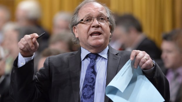 Aboriginal Affairs Minister Bernard Valcourt pictured on May 6, 2015. The Quebec Native Women's Association says its funding was cut after its dossier was transferred from Heritage Canada to Aboriginal Affairs.