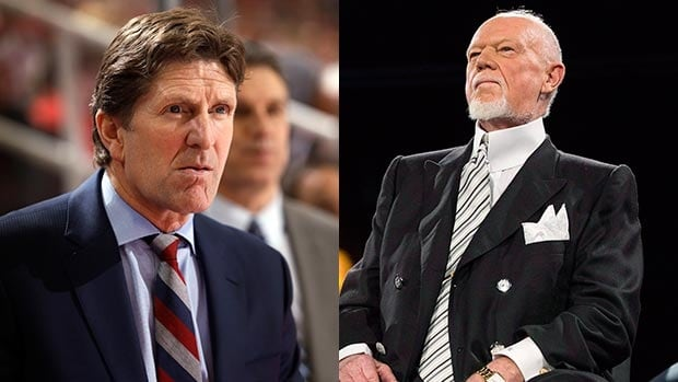 Don Cherry, right, believes Mike Babcock should remain coach of the Detroit Red Wings.