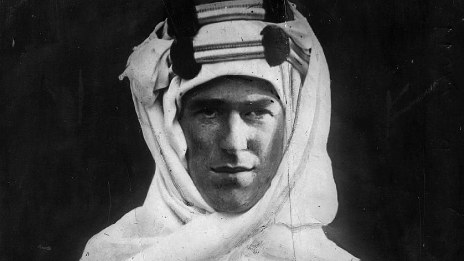 British soldier, adventurer and author Thomas Edward Lawrence (1888 - 1935).