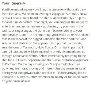 Nova Star Groupon Itinerary
