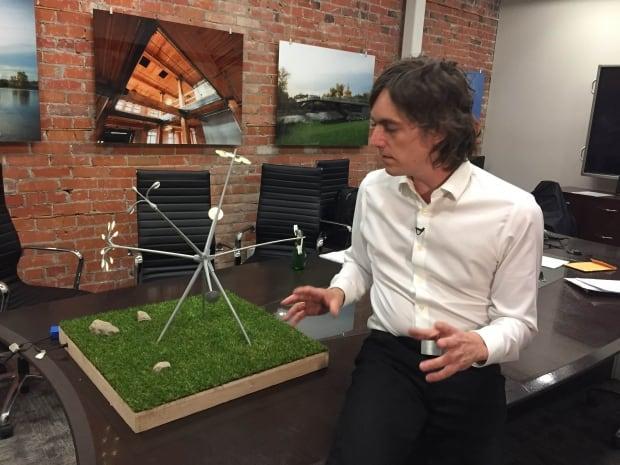 Montreal artist Michel de Broin on Bloom sculpture