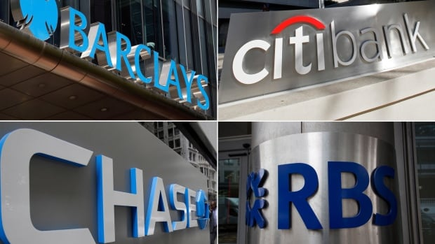Among the U.S. and U.K. banks facing big fines for manipulating the foreign exchange markets are Barclays, Citigroup, JPMorgan Chase and the Royal Bank of Scotland.