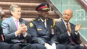Mark Saunders, police chief sworn in