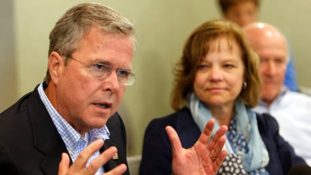 Former Florida Gov. Jeb Bush speaks during a meeting with area business leaders, Wednesday in Portsmouth, N.H.