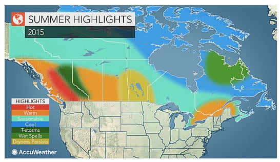 Bc Weather Forecast For Dry Warm Summer With Increased: Western Canada Weather Map At Infoasik.co