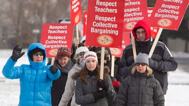 Teachers across Ontario staged demonstrations and walk-outs to protest against Bill 115. This one took place in Ottawa in 2012.