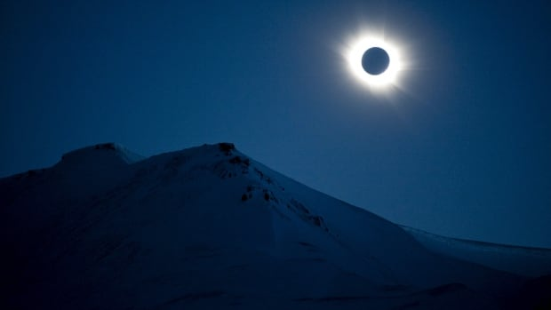 A total solar eclipse is seen in Longyearbyen on Svalbard March 20, 2015. On Aug. 21, a total solar eclipse will darken a large swath of the U.S.