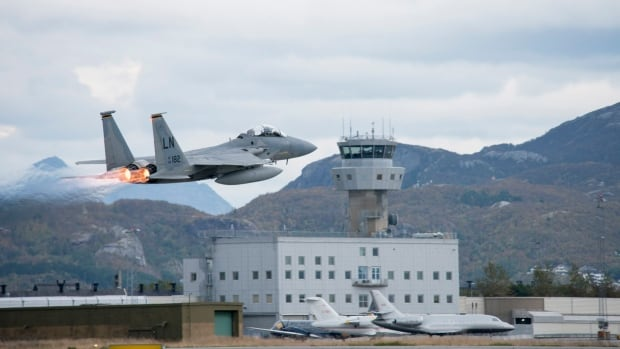 The two-week Arctic Challenge Exercise started Monday with more than 100 aircraft and 4,000 people participating. It follows NATO submarine detection drills off the Norwegian coast earlier this month.