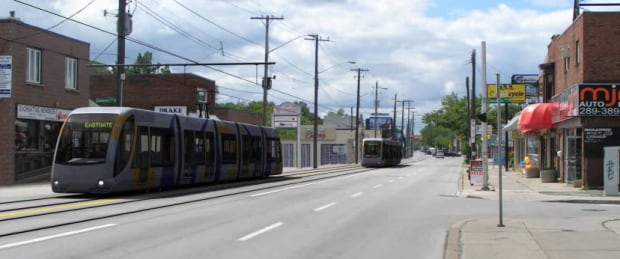 Main St. E. Hamilton LRT