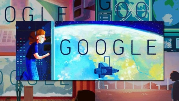 A still image from Tuesday's Google Doodle, which celebrates astronaut Sally Ride, on what would have been her 64th birthday.