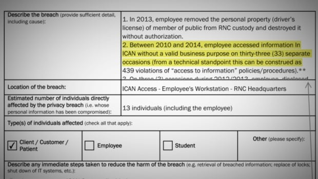 Documents obtained by CBC News through an access to information request revealed the breaches of privacy by a staff member with the Royal Newfoundland Constabulary.