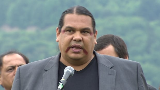 """Rueben George of the Tsleil-Waututh Nation says his band is saying no to what he calls a """"flawed process"""" for pipeline approval at the National Energy Board."""