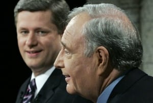Stephen Harper and Paul Martin, 2006 election debate