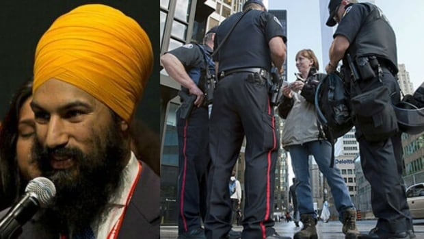 Ontario MPP Jagmeet Singh says he has been stopped by police about ten times.