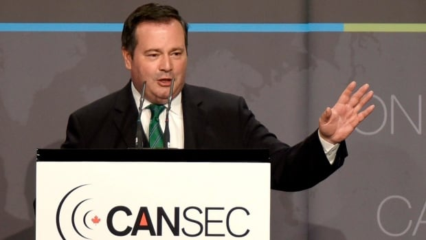 Minister of National Defence Jason Kenney speaks during a luncheon at the Canadian Association of Defence and Security Industries CANSEC trade show in Ottawa on Wednesday, May 27, 2015.