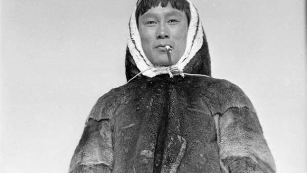 Barnabus Arnasungaaq of Baker Lake, Nunavut, a world renowned soapstone carver, 1949