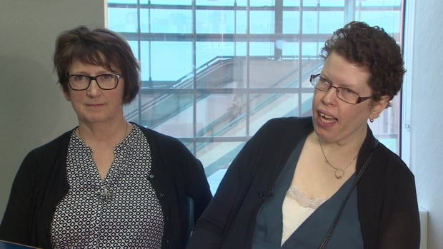 Beth MacLean, shown with her former social worker Jo-Anne Pushie in 2015, spent more than 15 years living at Emerald Hall, part of the Nova Scotia Hospital complex in Dartmouth.