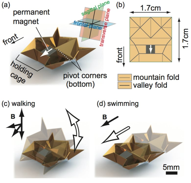 MIT's self-destructing origami robot could one day heal you from the inside