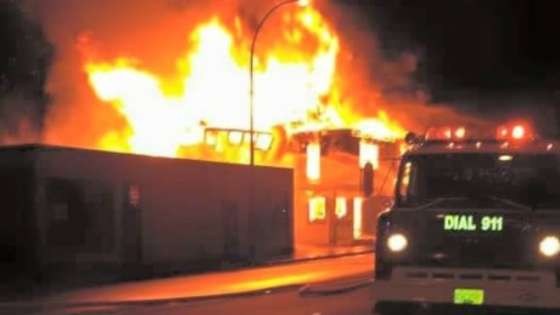Volunteer firefighters from Hope and the surrounding area spent hours battling a massive fire that burned out of control in downtown Hope Saturday night.