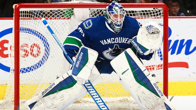 Canucks Goalie Jacob Markstrom Makes Incredible Save For Utica Cbc Sports