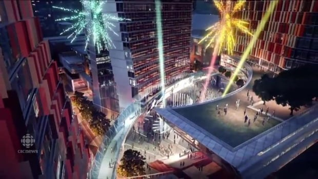 An artist rendering of True North Square. Jordan Sodomsky says the city is offering tax incentives to big projects in downtown Winnipeg but not to infill developers in other parts of Winnipeg, also in need of density and revitalization.