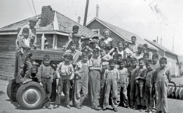 File Hills residential school, 1948