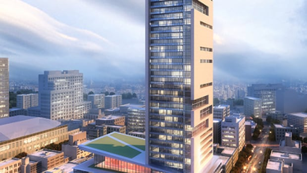 A conceptual drawing of SkyCity, which Fortress Real Developments plans to build on Smith Street.