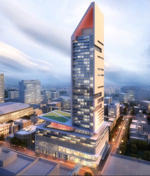 SkyCity Centre conceptual drawing