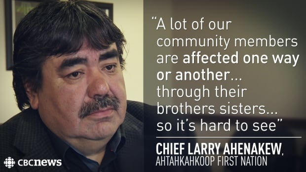 Chief Larry Ahenakew on Ahtahkakoop first nation