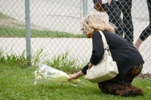 Flowers laid at Kelvin High School