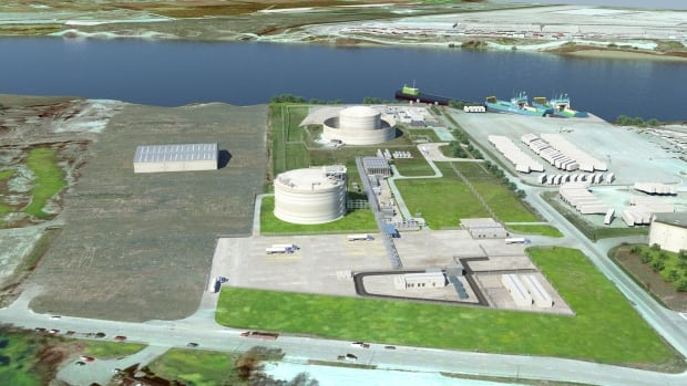 The LNG export licence recently approved by the National Energy Board would be exported from near this FortisBC LNG facility on Tilbury Island in Delta, B.C.