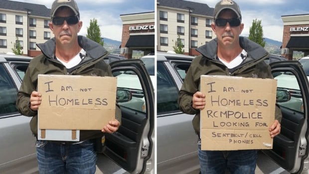 How a panhandling cop catches drivers out
