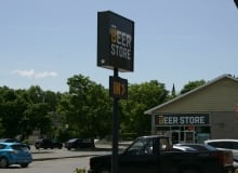 New Beer Store sign at Almonte, Ont., location