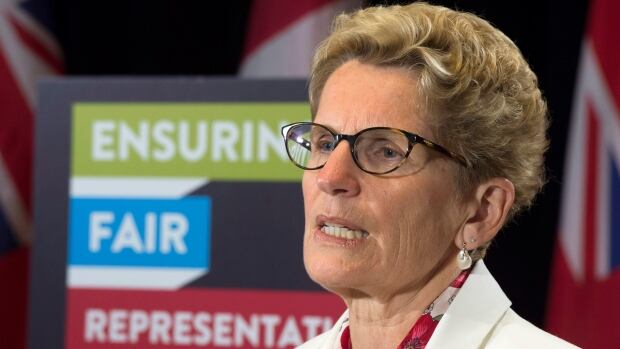 Ontario Premier Kathleen Wynne is yet to call a byelection for the vacant seat of Whitby-Oshawa, but she's already appearing in radio ads promoting the Liberal candidate.