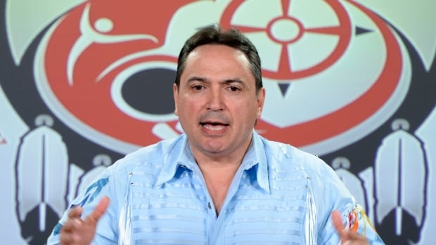 Assembly of First Nations national Chief Perry Bellegarde holds a news conference in Ottawa on Monday, June 1, 2015. (Photo: CP/Sean Kilpatrick)