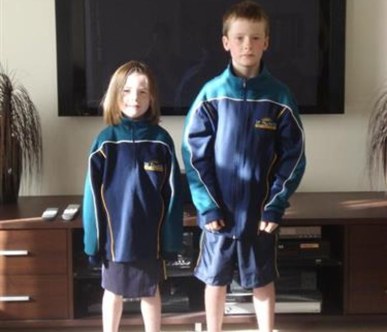 c6dd24cfd3d Shelley Barker s children on their first day of school in Australia in  2008. The family lives in Saskatoon now (CBC) ...