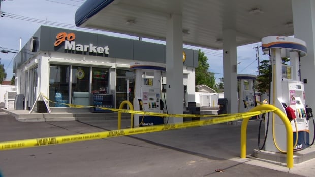 Police have found the stolen pickup truck connected to a hit and run at a gas station in northwest Calgary. Officers also took two males into custody for questioning.