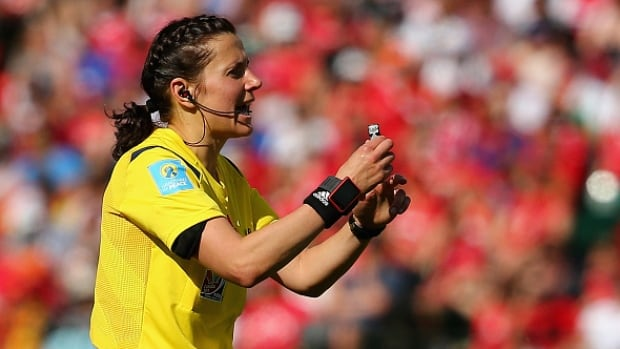 Kateryna Monzul made a controversial penalty in the FIFA Women's World Cup opener between Canada and China.