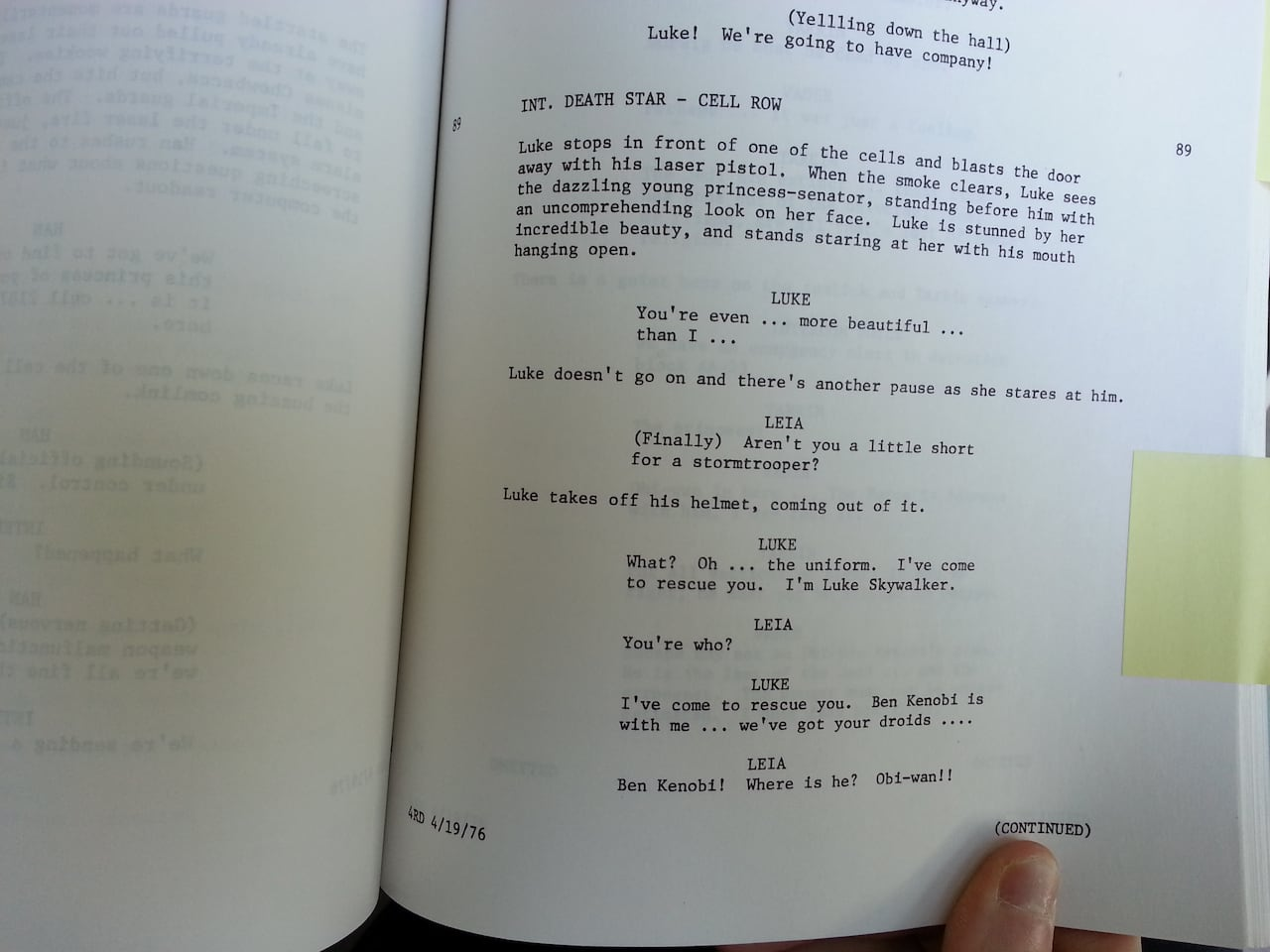 Copy Of Original Star Wars Script Discovered In Unb Library Cbc News